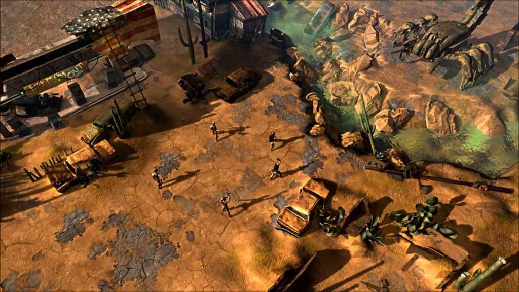 wastland 2 gameplay screen