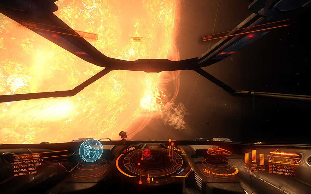 ELITE DANGEROUS gameplay screen