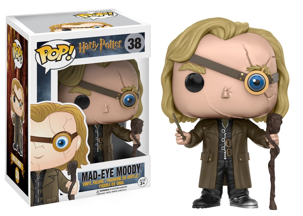 3 Funko Pop di Harry Potter: Mad-Eye Moody, N.38