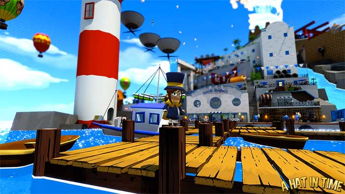 a hat in time, videogioco platform: screen gameplay