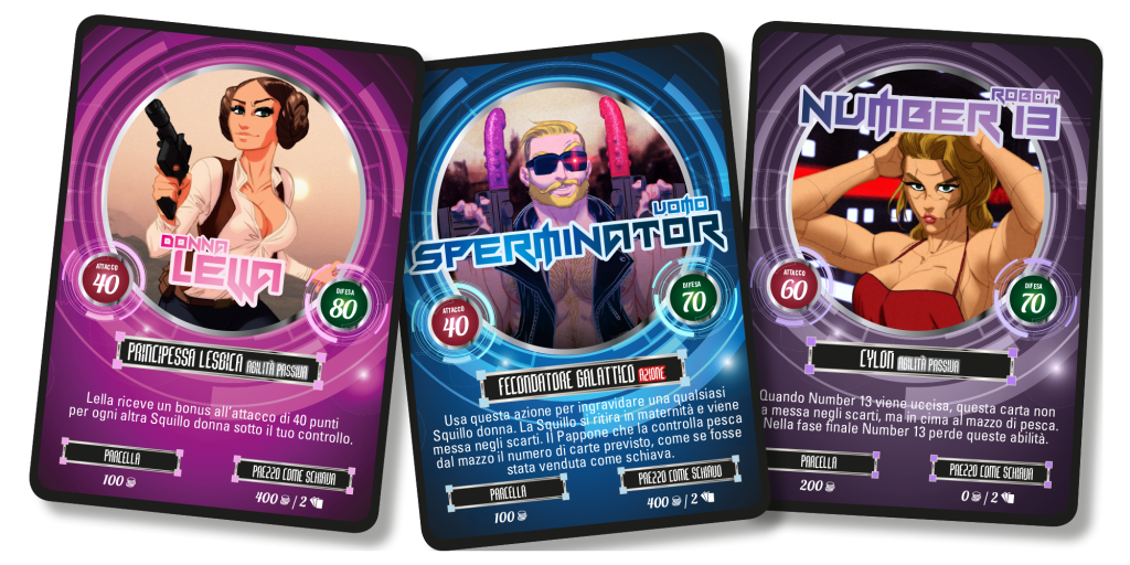 squillo time travel: deep space 69 cards