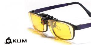 klim otg lenti per occhiali con clip, riposanti per monitor PC