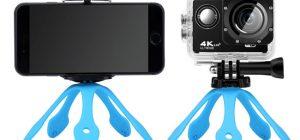 UliX Poseidon Supporto Treppiede Universale per Telefono, GoPro, Fotocamera Smartphone iPhone Samsung Huawei (Blu)