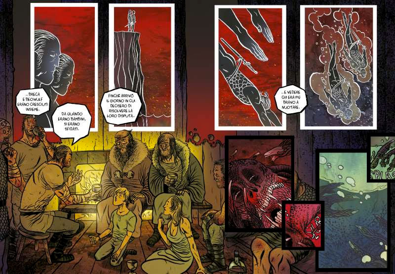 beowulf graphic novel tunuè tavola