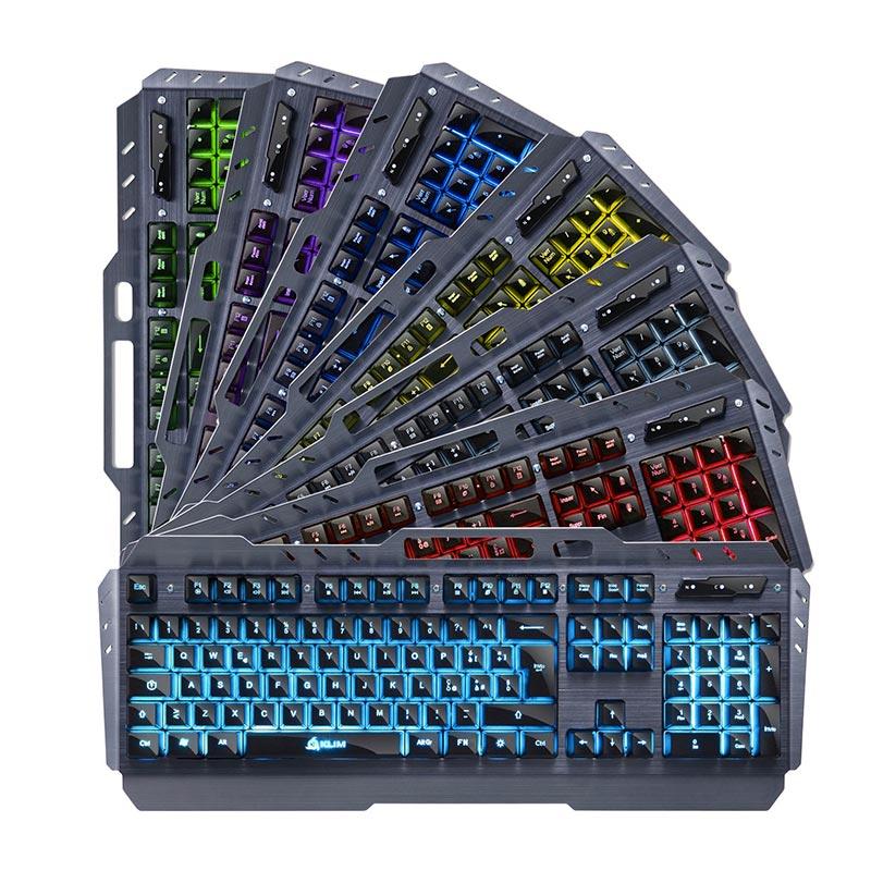 klim lightning tastiera gaming semi-meccanica in acciaio