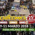 cartoomics 2018 milano fiere 25° anniversario