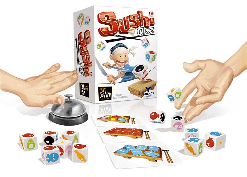sushi games gioco da tavolo ghenos games