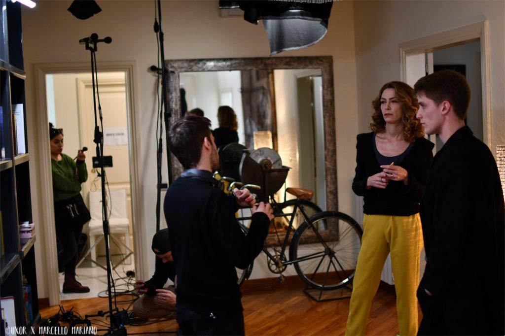 Un momento delle riprese sul set di Just.