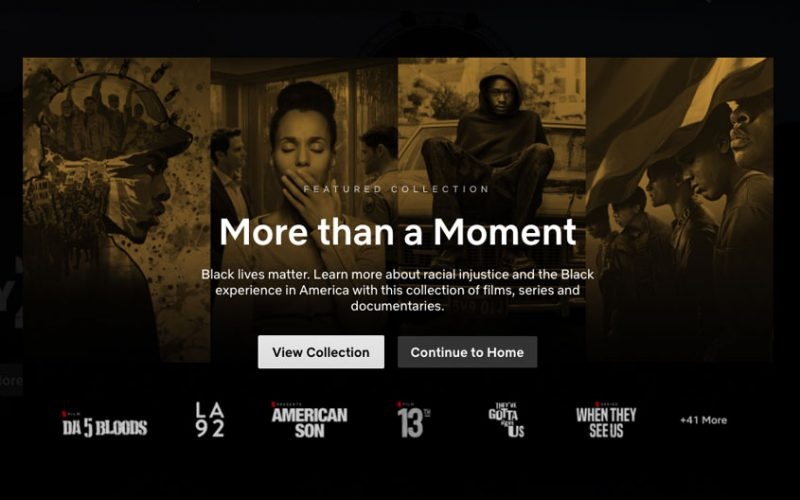 Netflix aggiunge la nuova categoria dedicata al Black Lives Matter